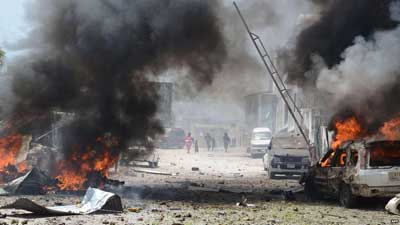 Scenes from a recent attack by al Shabaab on Photo:BBC
