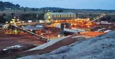 London Mining's iron ore mine at Lunsar, Sierra Leone