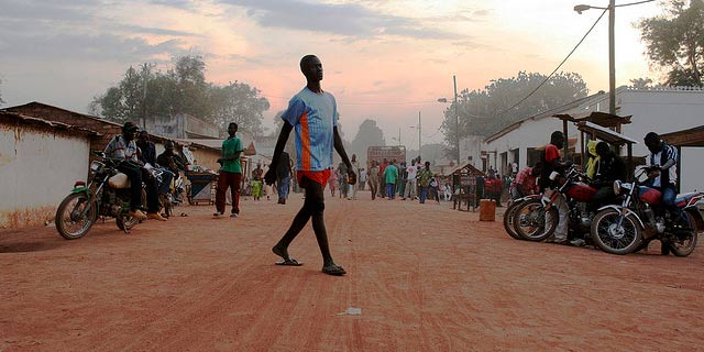 Main street, Paoua, north-west Central African Republic.