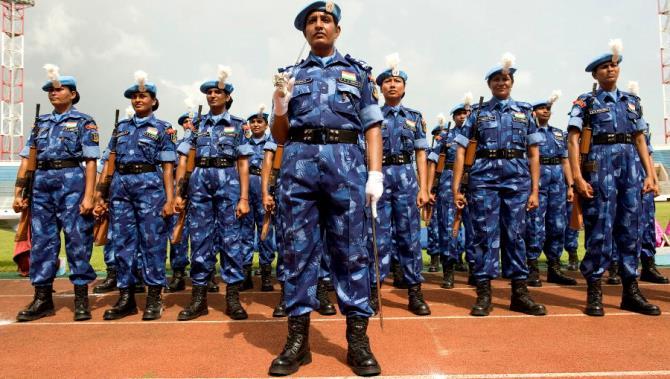 UNMIL Honours Indian Police Officers