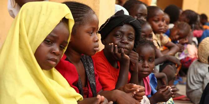 Some of the girls rescued by Nigerian soldiers from Sambisa Forest, the stronghold of militant group Boko Haram