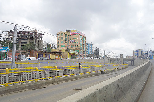 The new Light Rail Transit in Addis Ababa, which opened in September Photo Credit: Julia Bird