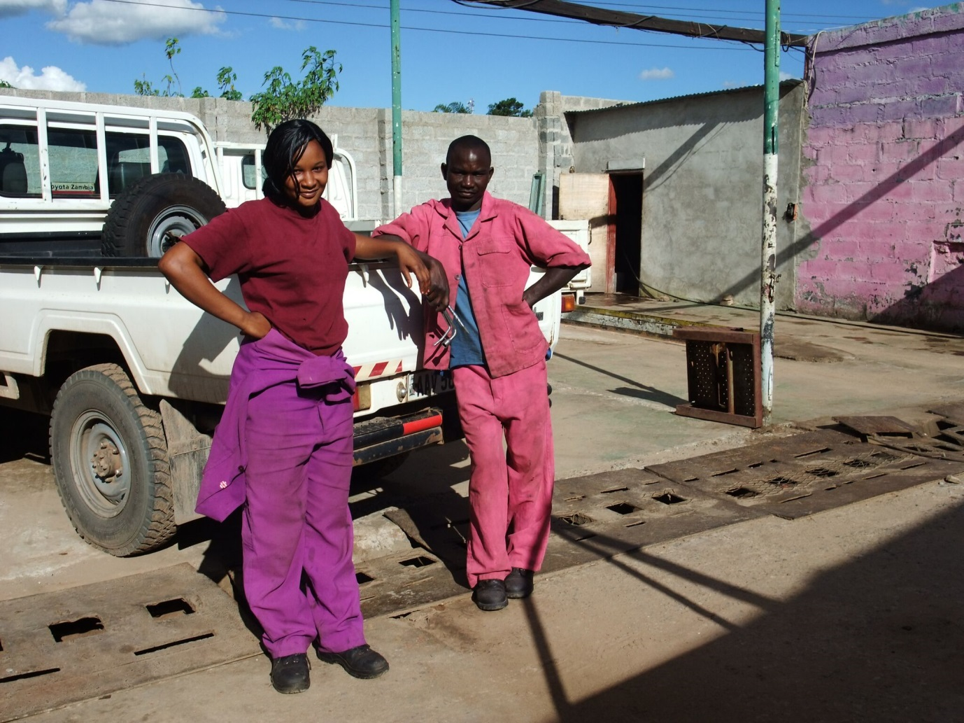 In modern day Zambia, women can now as car mechanic or other roles generally dominated by men Photo Credit: Alice Evans