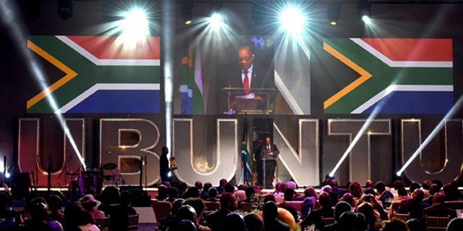 South African President Jacob Zuma delivers an address at the Inaugural Ubuntu Awards in Cape Town. Flickr