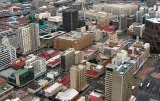 A bird's eye view of Johannesburg
