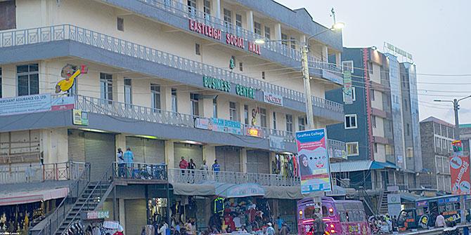 A busy business centre in Eastleigh, Nairobi