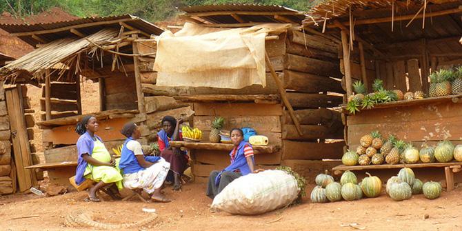 Market stall in rural Uganda