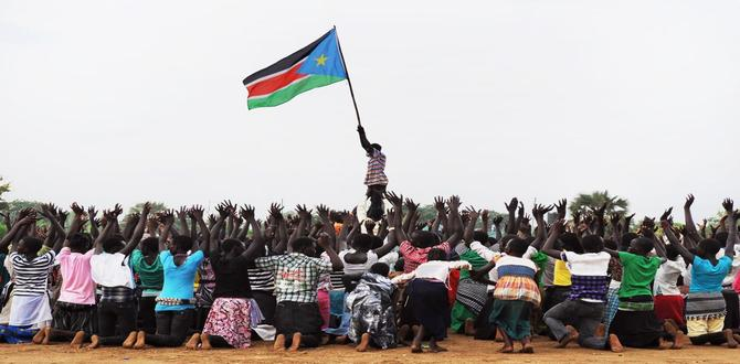 South Sudanese children rehearse a dance routine to be performed at half-time during South Sudan's national football team match with Kenya as part of the Independence Day celebrations