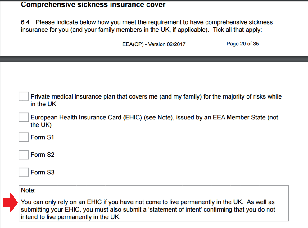 Comprehensive Sickness Insurance