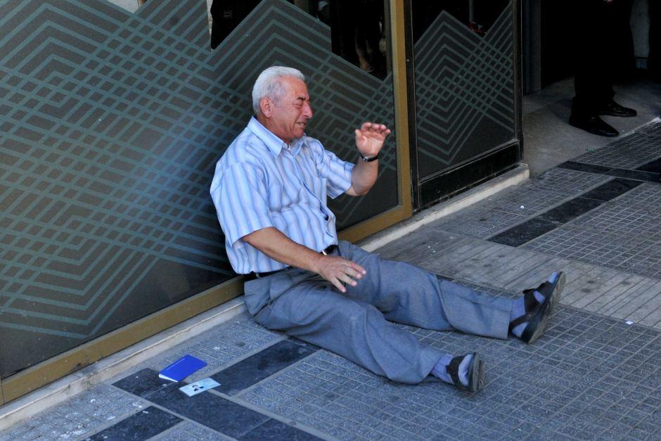 Greek crisis man