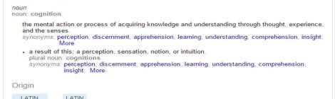Learning & Cognition #1: What is Cognition?