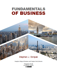 Cover of Fundamentals of Business