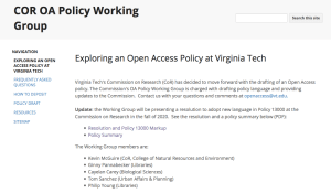 Policy homepage