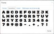 Formes caractères