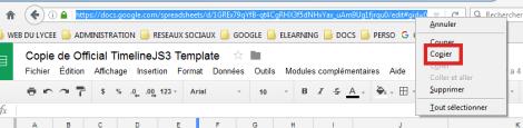 Copier l'URL du classeur