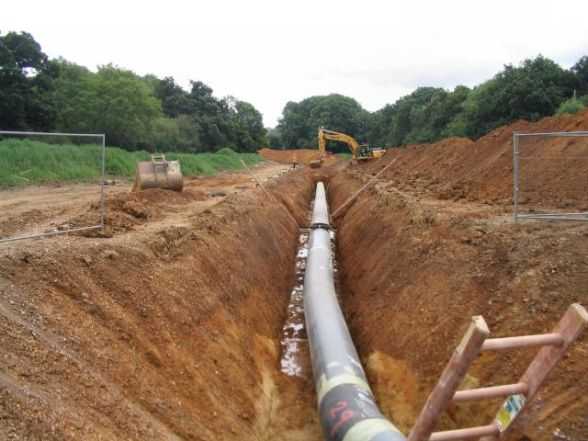 Example of pipeline construction. Photo by Rosemary Oakeshott