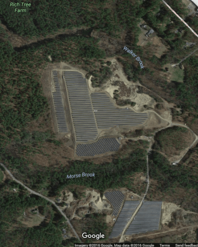 Shirley solar array from above c/o Google Earth