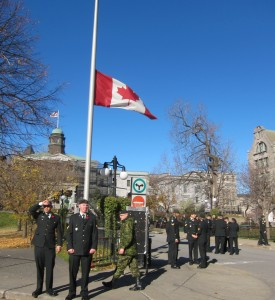 Flag at half mast on McGill Campus