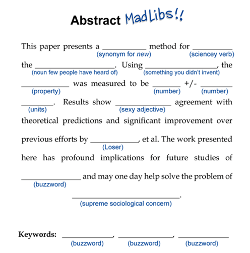 How To Write A Conference Abstract Or How NOT To Write One GradLife