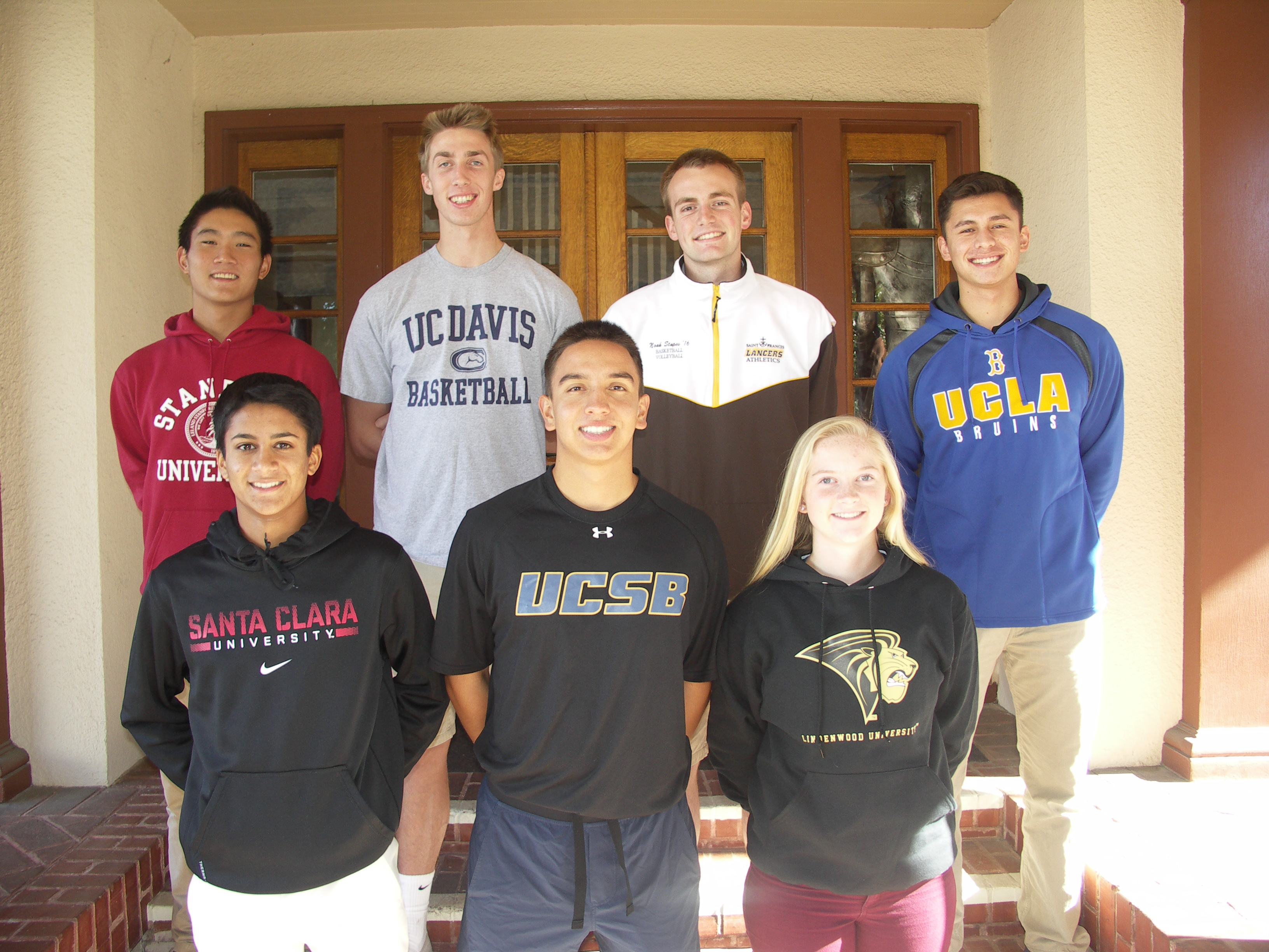 St. Francis Students Pose For A Picture At A National Letter Of Intent  Ceremony Wednesday