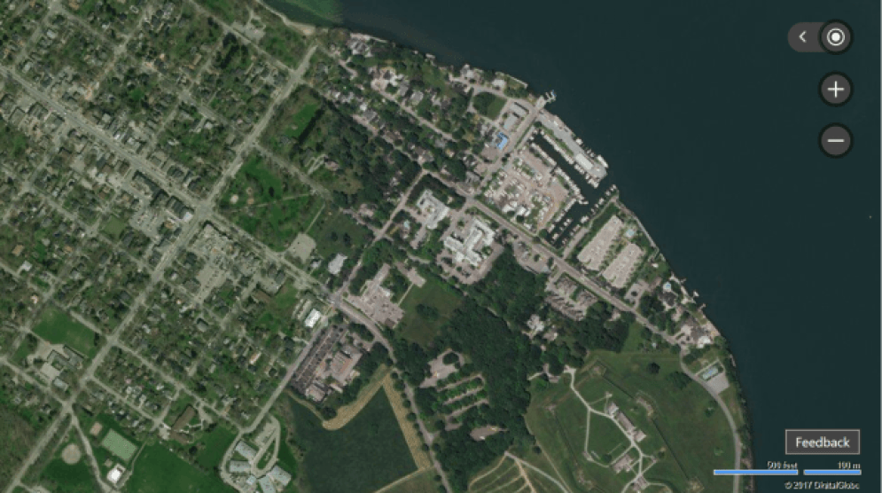 bing maps aerial view of niagara falls ontario