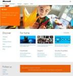 2012 Microsoft.com hom page