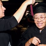 First black applicant, denied admission in 1950, receives honorary degree