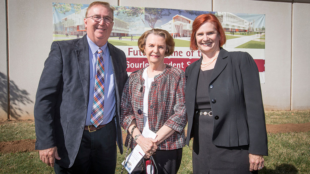 Stephanie Bryant at the Glass Hall ground breaking.