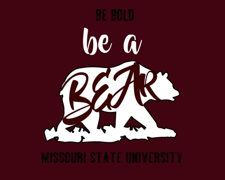 maroon tshirt design, walking bear and Be Bold text