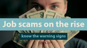 Know the warning signs of job scams
