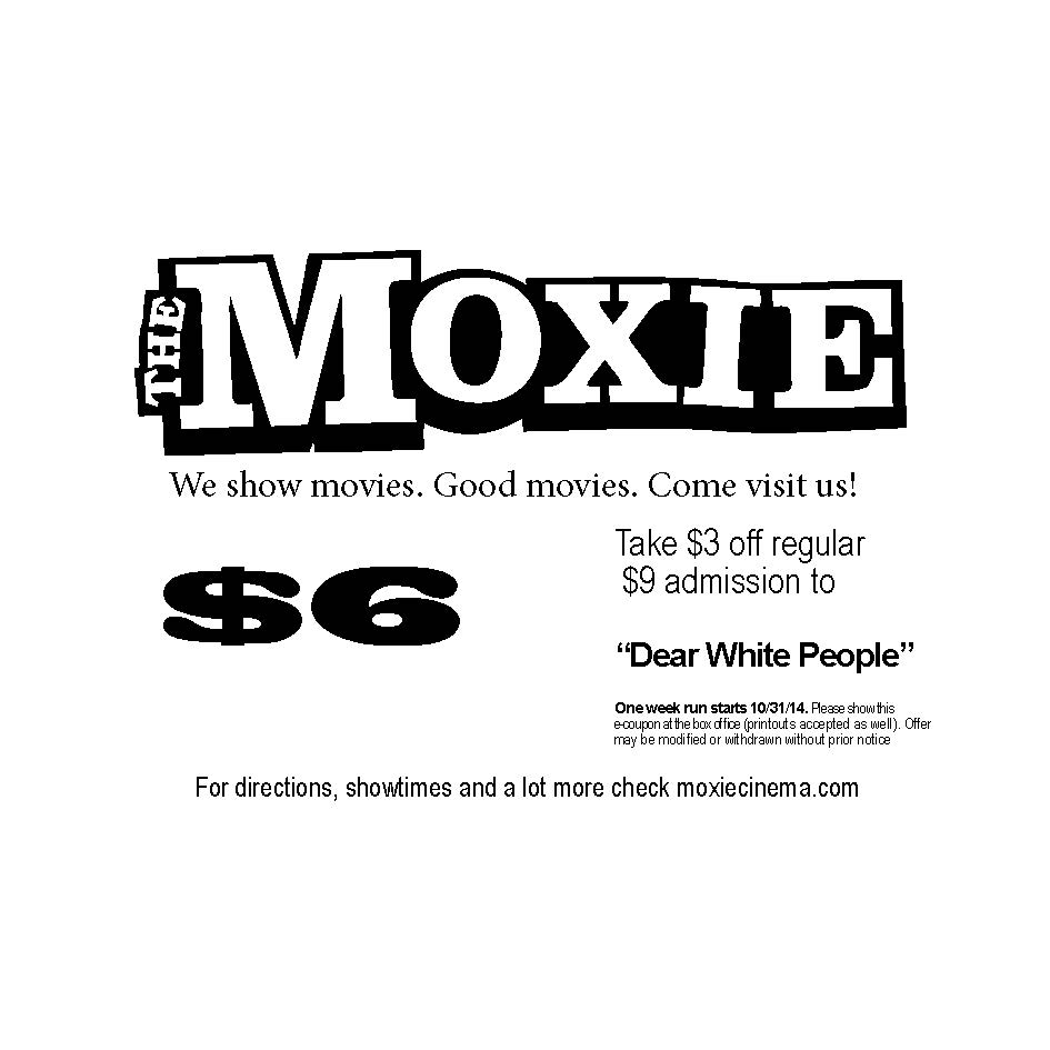 """""""Dear White People"""" film showing at the Moxie"""