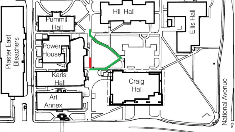 UPDATE: Sidewalk Repairs – Between Karl's Hall and Craig Hall – July 28-29, 2016