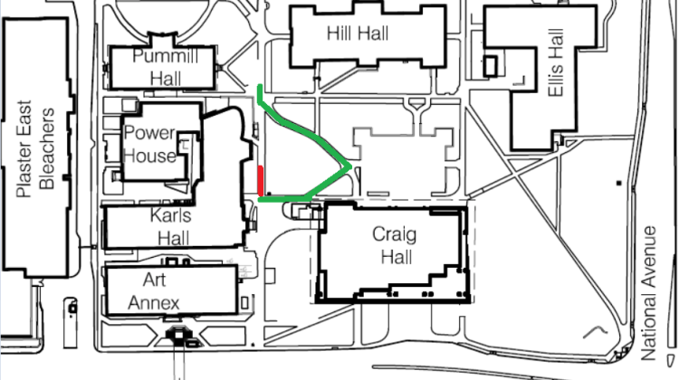 UPDATE: Sidewalk Repairs – Between Karl's Hall and Craig Hall – July 28-29, 2016