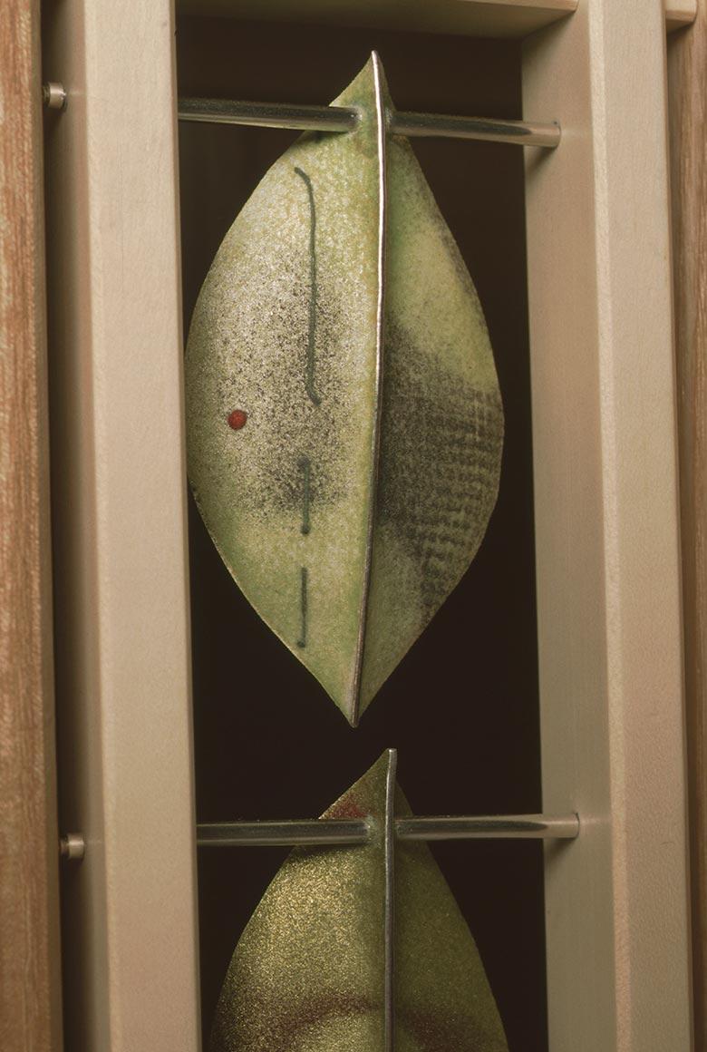 Detail of leaf on Silver Leaf cabinet