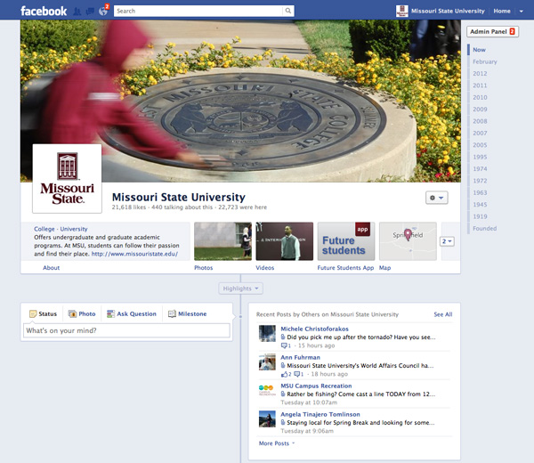 Missouri State Facebook page