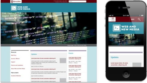 Web and new media website in new mobile template
