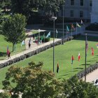 Avenue of flags during Public Affairs Week