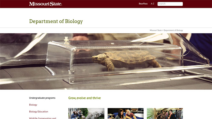 Biology website