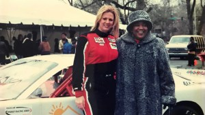 Phyllis Washington with female NASCAR driver