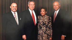 Phyllis Washington with Colin Powell