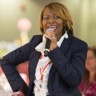 African-American woman speaking during Collaborative Diversity Conference