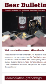 Old mobile version of the Bear Bulletin e-news letter.