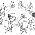 Small group discussion cartoon small crowd cartoon related keywords