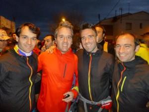 Sergi, Josep Lluís, Albert y Jesús, antes de la salida