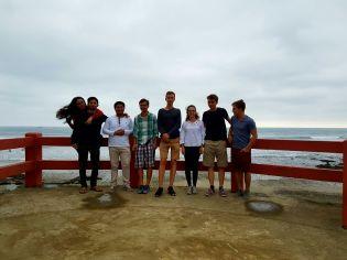 V.l.n.r.: Gabriela, Darwin, Jonathan, meine Person, Hans, Maya, Lennart, Simon