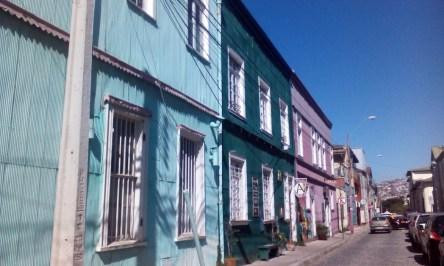 Häuserzeile in Valparaiso