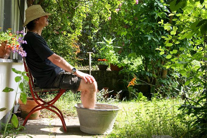 Abhühlung im eigenen Garten - Foto: Abkühlung : Christine Kuchem