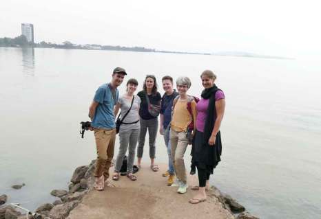 Endlich angekommen - wir am Ufer des Tanasees (nicht im Bild: Hippos, Warane und 30 verschiedene Vogelarten)