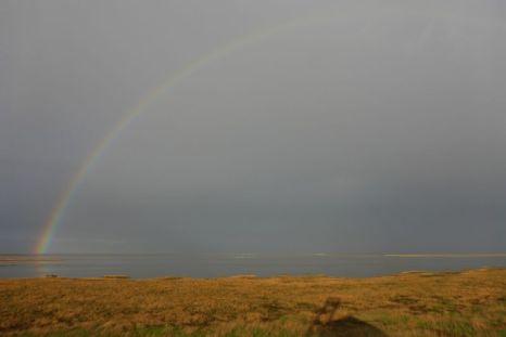 … und ein Regenbogen (Foto: Tore J. Mayland-Quellhorst).