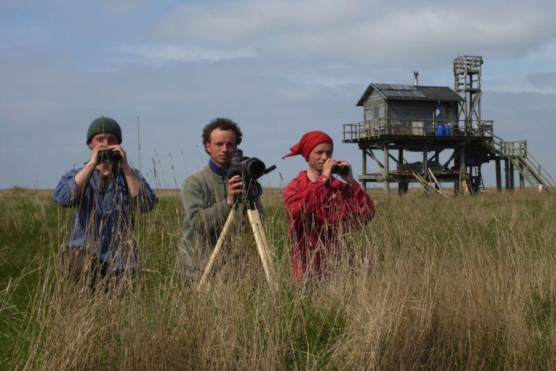 Team Robinson: Robinson Crusoe, Tore Mayland-Quellhorst und Hauke Freitag (v. l.; Foto: Tore J. Mayland-Quellhorst).